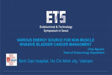 Various energy source for non muscle invasive bladder cancer management
